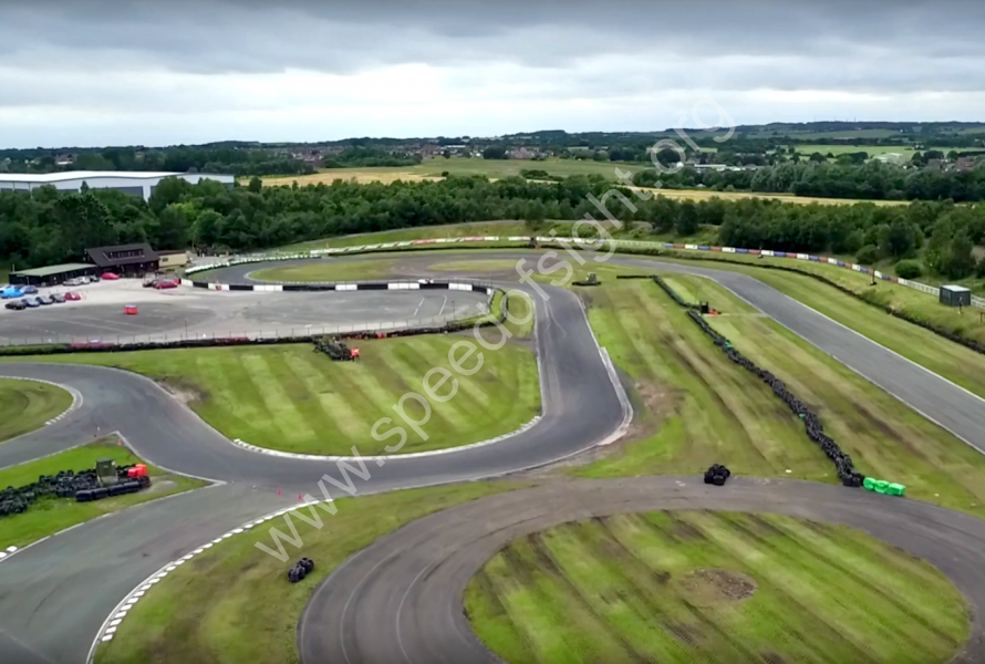 Aerial view of Three Sisters race circuit.