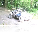 Mark at his Speed Of Sight Off Road Track Day at Reaseheath