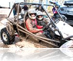 Off road driving day participant at Reaseheath college